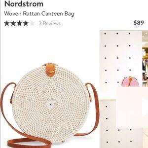 Woven Rattan Canteen Bag